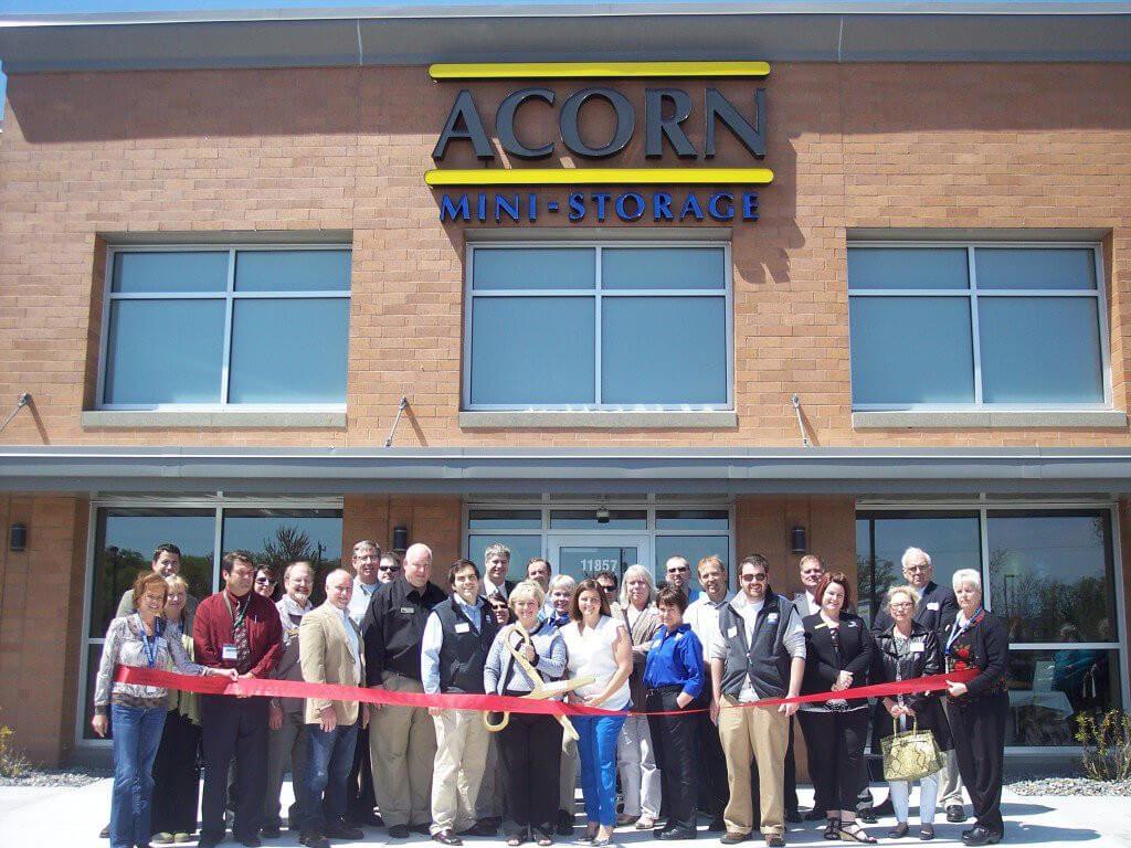 Acorn Mini Storage ribbon cutting ceremony at facility