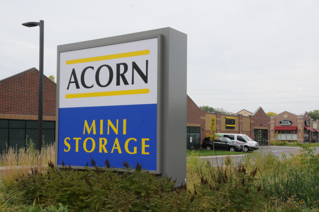 Outdoor facility sign of Acorn Mini Storage