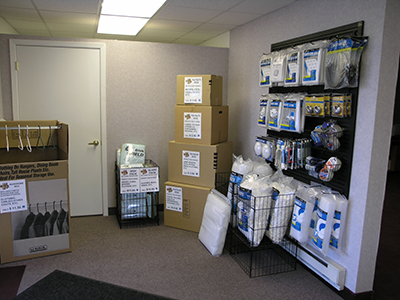 Packing Supplies in the Chaska, Minnesota Location Office