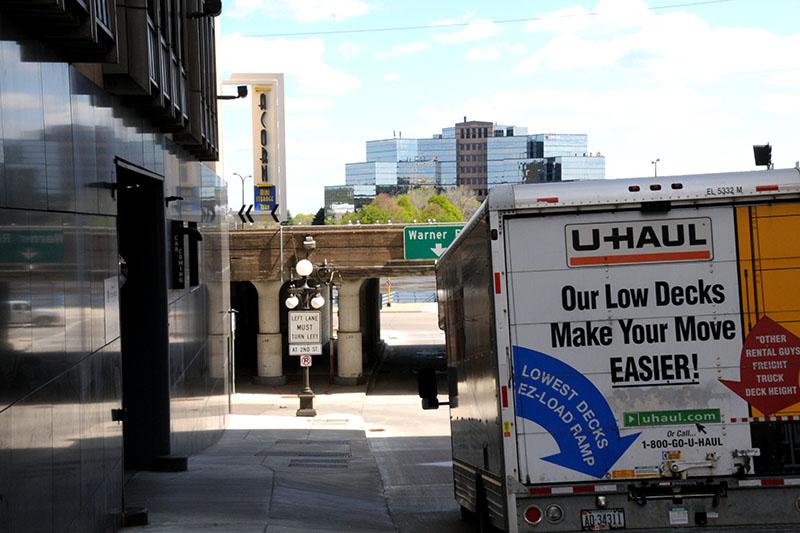 U-HAUL Truck Driving Down a St. Paul Street