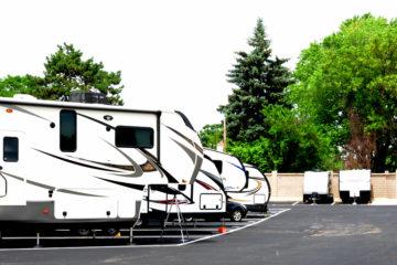 Outdoor RV parking area