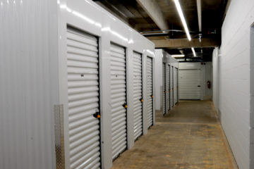 Secure small indoor storage units with locks